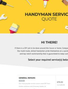 sample free handyman quote template  better proposals handyman estimate template example