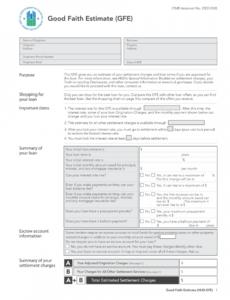 sample good faith estimate form  editable template to download good faith estimate template