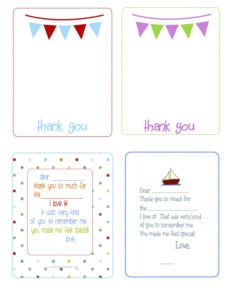 sample printable thank you cards  the house of hendrix  printable kids thank you note template doc