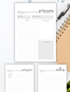 sermon notes printable  sermon journal pages  printable bible study note taking template example