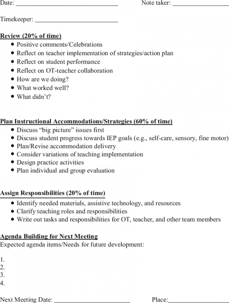 coplanning meeting agenda template  download table planning session agenda template pdf