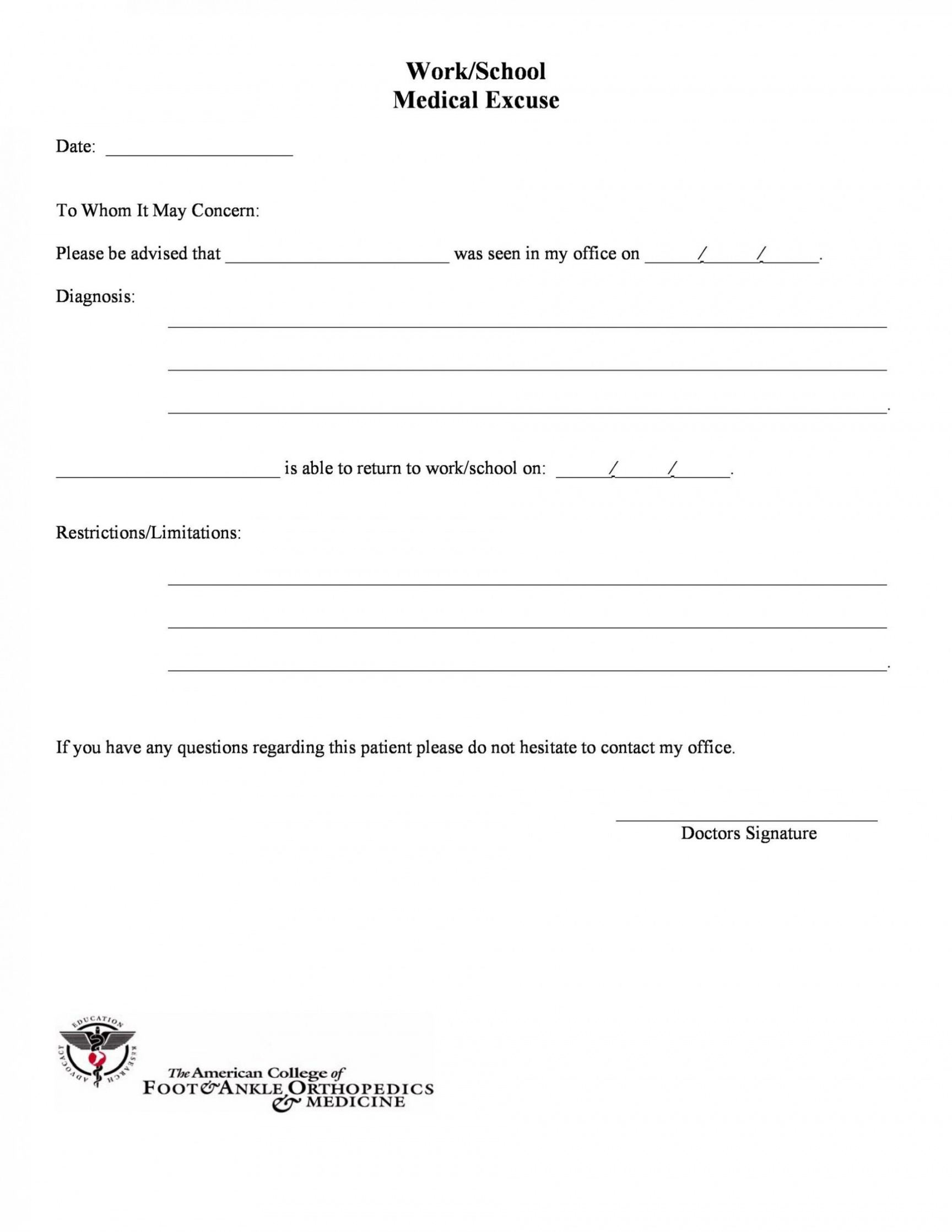 editable urgent care doctor note template ~ addictionary urgent care doctor note template excel
