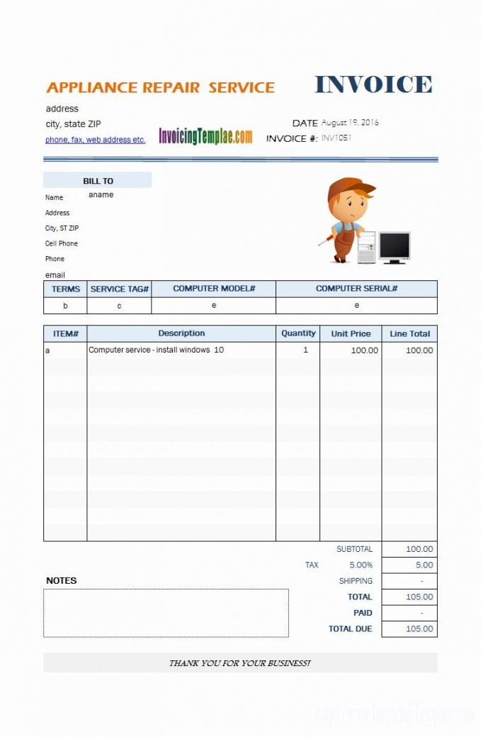 free computer repair forms template lovely appliance repair computer repair estimate template word