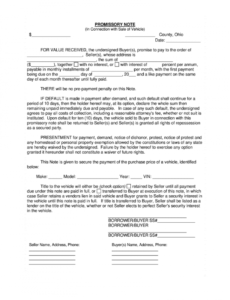 free indiana reassignment form  fill online printable fillable automobile promissory note template