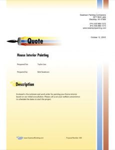 painting contractor sample proposal  5 steps painting contractor estimate template sample