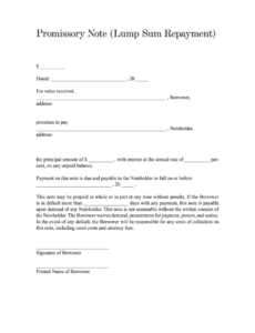 printable promissory note pdf  fill online printable blank promissory note template excel