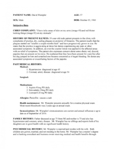 printable soap wk 4  soap note  nurs 3020  studocu dermatology soap note template sample