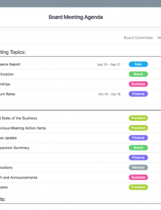 sample board meeting agenda template  corporate meeting minutes board agenda template non profit word