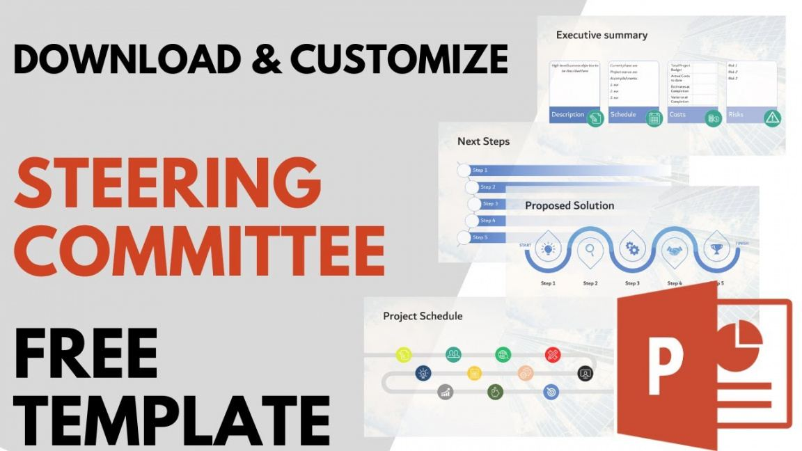 sample free steering committee powerpoint presentation it steering committee agenda template sample