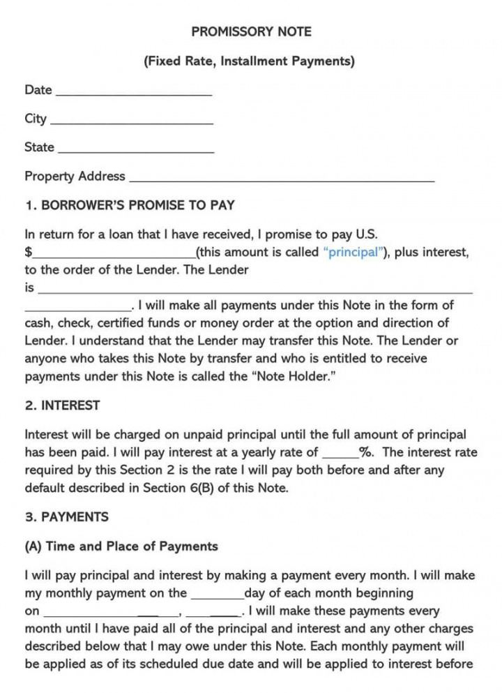 sample unsecured promissory note template ~ addictionary unsecured promissory note template excel