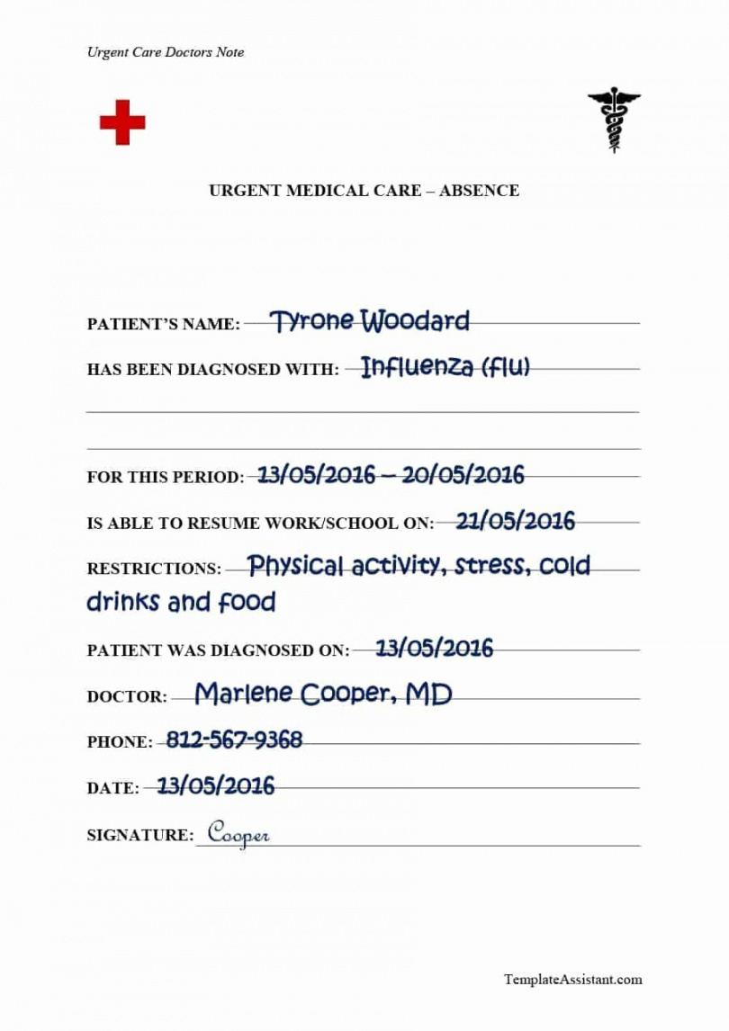 urgent care doctors excuse fresh doctors note template 38 urgent care doctor note template word