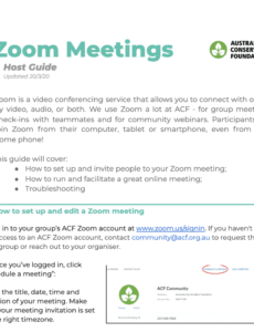 zoom meetings host guide  the commons meet and greet meeting agenda example