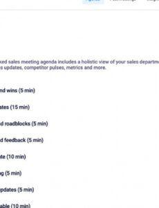 Annual Sales Meeting Agenda Ideas  Sample