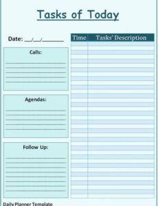 Best Work Agenda Planner Pdf Sample
