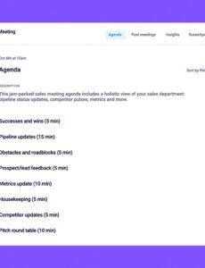 Costum Annual Sales Meeting Agenda Ideas Excel Example