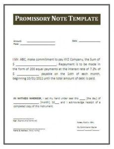 Costum Convertible Promissory Note Template Pdf Sample