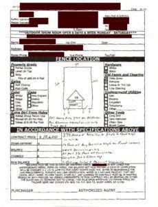 Costum Fencing Estimate Template Doc Sample
