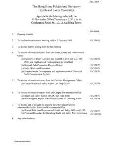 Costum Safety Committee Meeting Agenda And Minutes Pdf