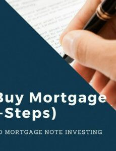 Costum Selling Private Mortgage Note Word Sample