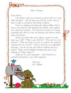 Costum Thank You Note To Parents From School Doc Sample
