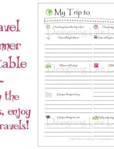 Costum Travel Agenda Template Pdf Example