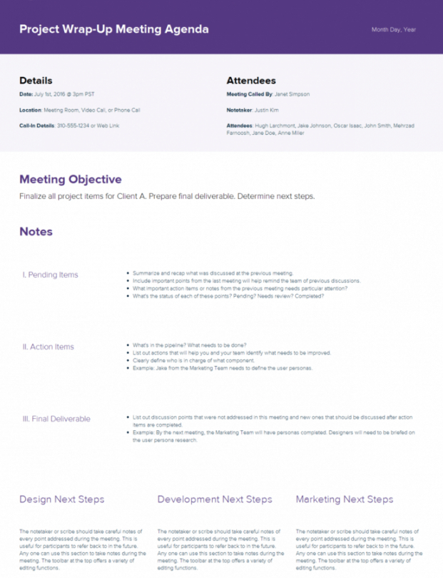 Cub Scout Committee Meeting Agenda Template Excel Sample