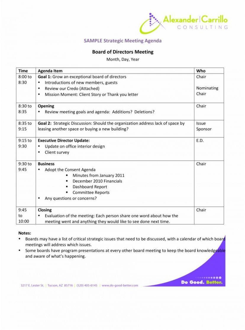 Editable Agenda For Strategic Planning Workshop Pdf Example