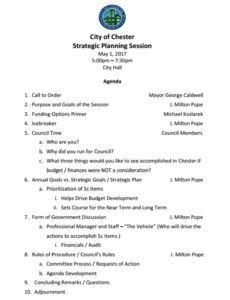 Editable Agenda For Strategic Planning Workshop Word Example