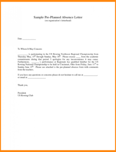 Editable Excuse Note For Missing School Pdf Sample