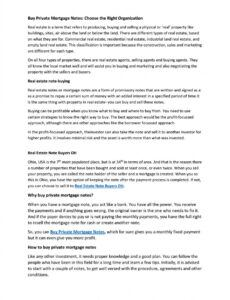 Editable Selling Private Mortgage Note Doc Sample