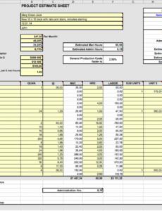Free Carpentry Estimate Template Excel