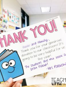 Free Thank You Note To Parents From School Word Sample