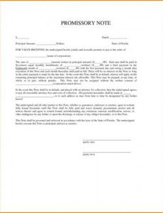 Printable Commercial Promissory Note Template