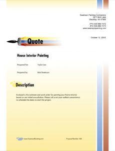 Professional Interior Painting Estimate Template