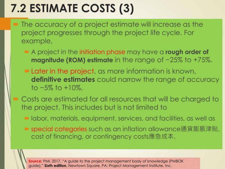 Professional Rom Estimate Template  Example
