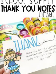 Professional Thank You Note To Parents From School Word Example