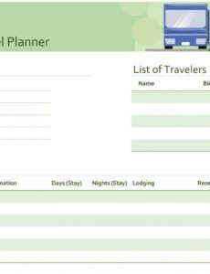 Travel Agenda Template