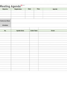 Best Team Meeting Agenda Template Pdf