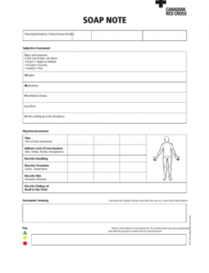 Clinical Soap Note Template Doc Example