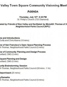 Company Town Hall Meeting Agenda Word