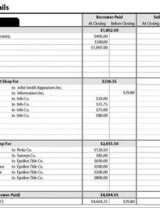 Costum Itemized Estimate Template Excel Example