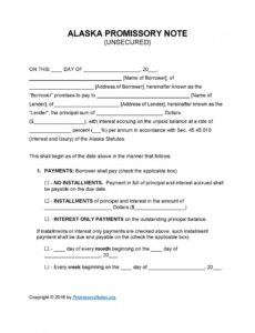 Editable Legally Binding Promissory Note Template Doc Sample