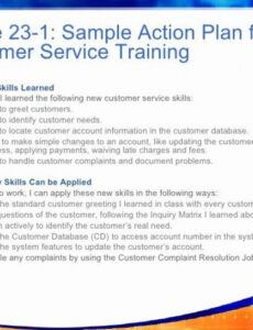 Free Customer Service Training Agenda Excel Example