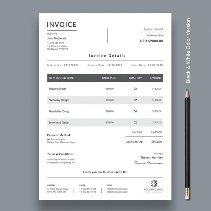 Graphic Design Estimate Template