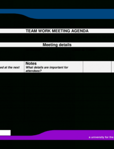 Printable Team Meeting Agenda Template Excel Example