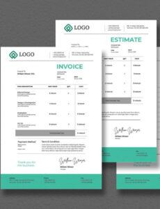 Professional Graphic Design Estimate Template Word