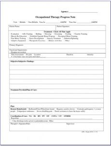 Professional Outpatient Psychiatric Progress Note Template  Sample