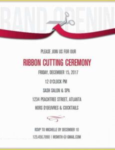 Professional Ribbon Cutting Ceremony Agenda Excel Sample
