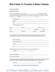 Best Bill Of Sale With Notary Template Pdf