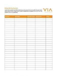 Best Monthly Bill Calendar Template  Sample